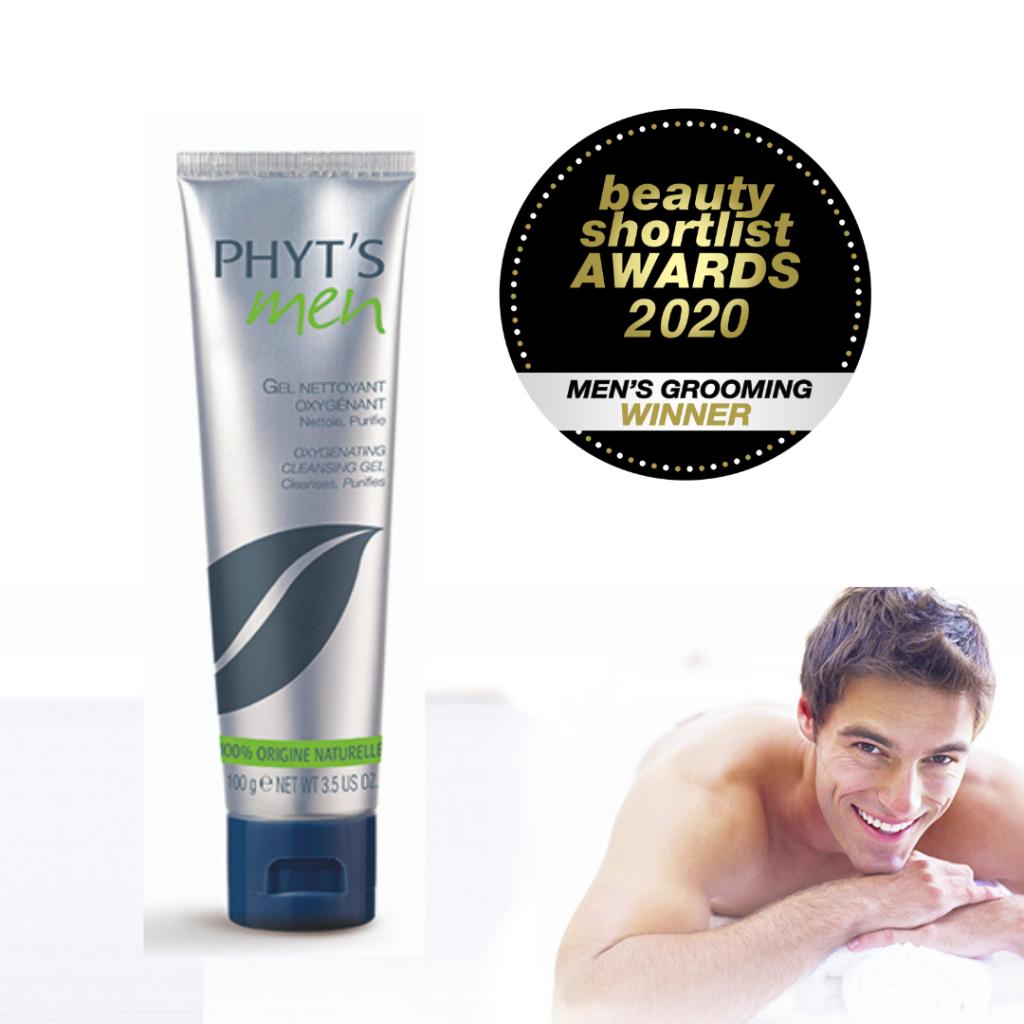 Phyt's Men Oxygenating Cleansing Gel wins the Men's Grooming – Best Cleansing Gel Award